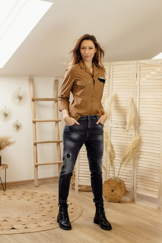 JEANS DIRTY PAINT NETRA - VELIKOST: 27