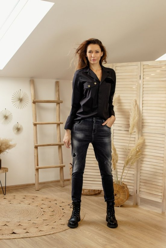 JEANS DIRTY PAINT NETRA - VELIKOST: 25